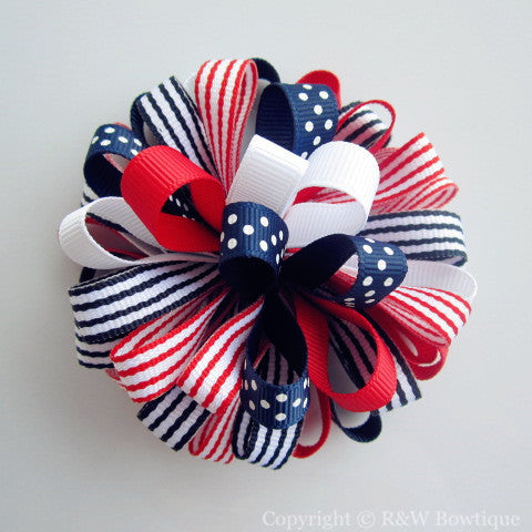 All American Style Loopy Hair Bow