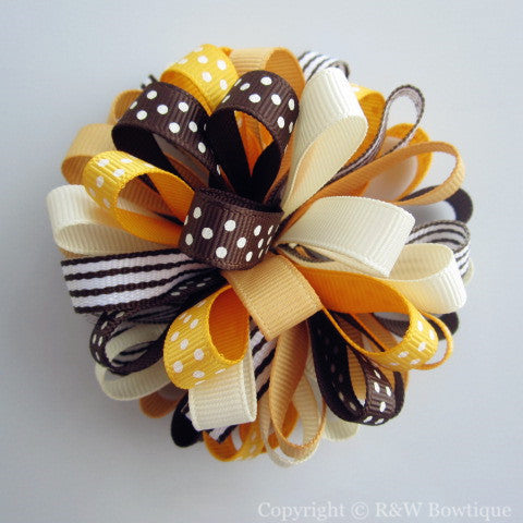 Baby Giraffe Loopy Hair Bow