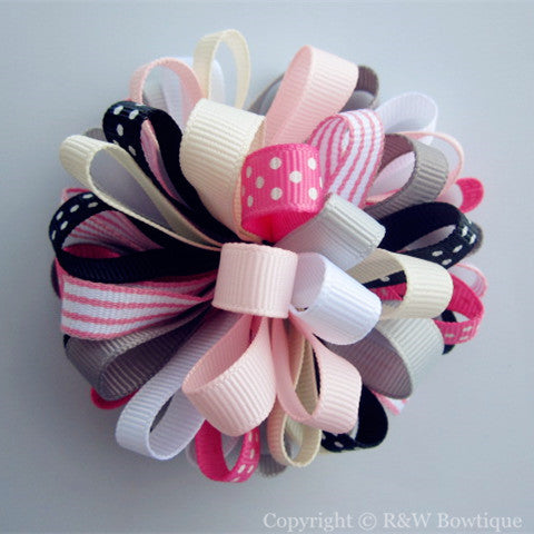 Back 2 School Loopy Hair Bow
