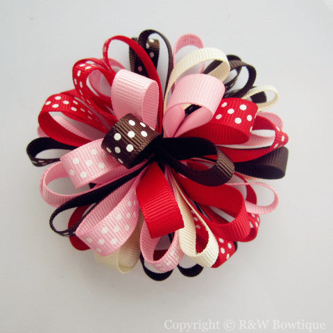 Back to School Loopy Hair Bow