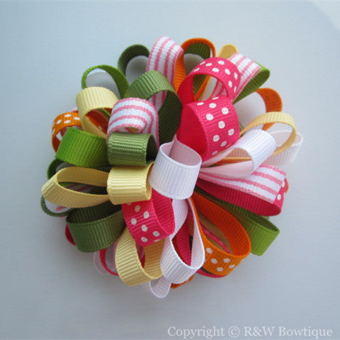 Batik Summer Loopy Hair Bow