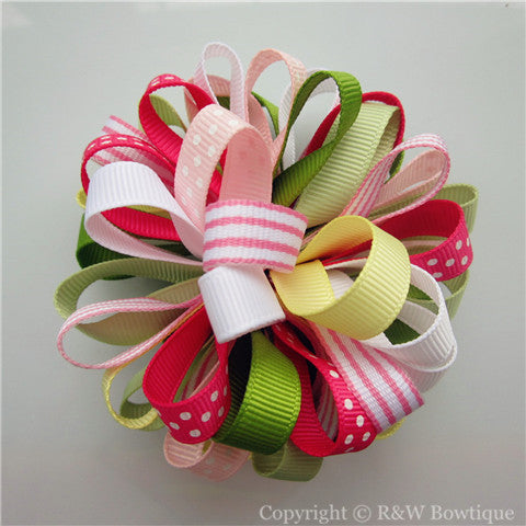 Bohemina Jewel Loopy Hair Bow