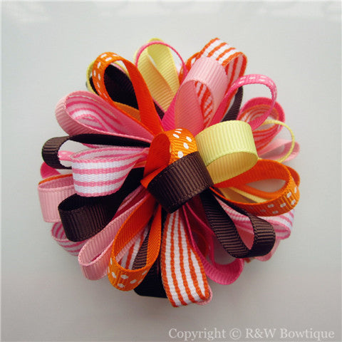Bright Owl Loopy Hair Bow
