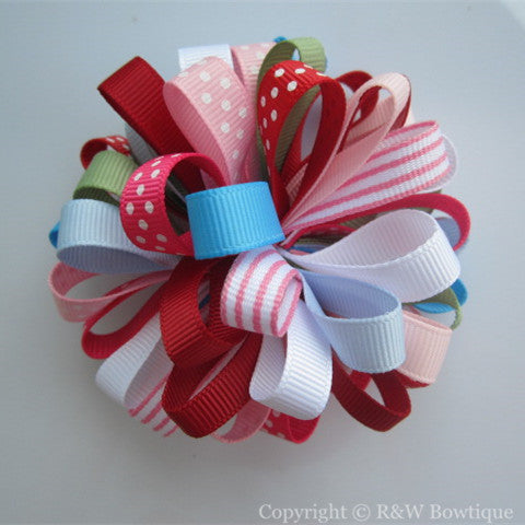 Burst of Spring - Baby Loopy Hair Bow