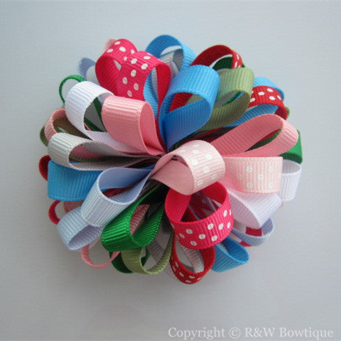 Burst of Spring - Big Girl Loopy Hair Bow