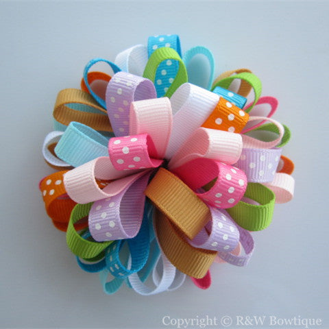Butterfly Blossoms Loopy Hair Bow