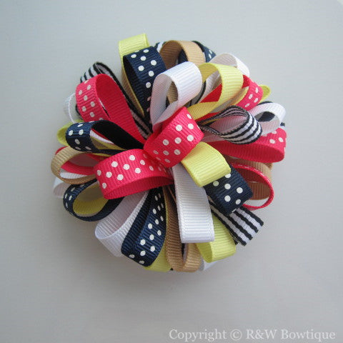 Cape Cod Cutie Loopy Hair Bow