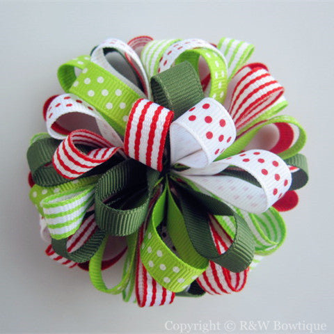 Cherry Sweet Loopy Hair Bow