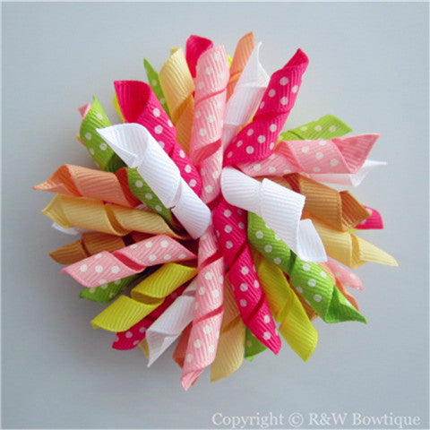 Citrus Cooler Korker Hair Bow