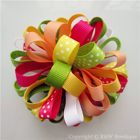 Fairy Floral Loopy Hair Bow