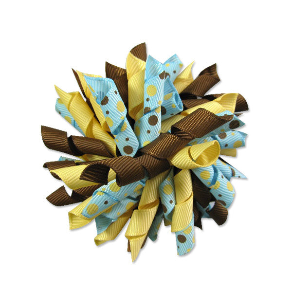 Fall Blue Korker Hair Bow