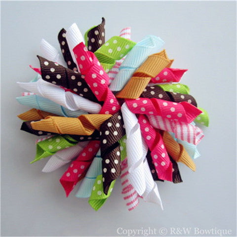 Fall Homecoming Korker Hair Bow