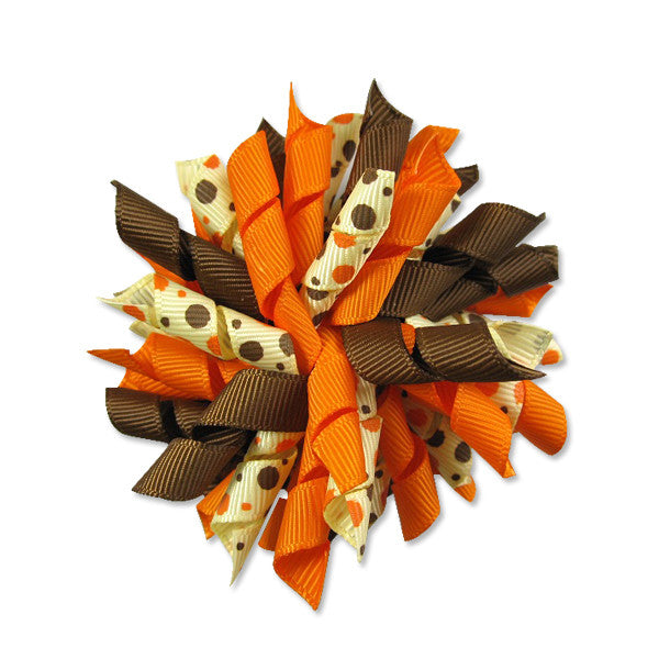 Fall Orange Korker Hair Bow