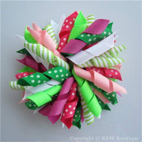 Floral Mermaid Korker Hair Bow