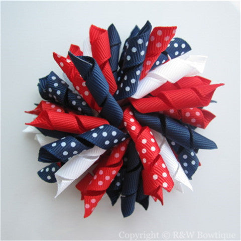 Fourth of July Korker Hair Bow