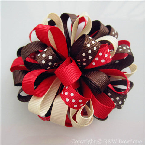 Gingerbread Girl Loopy Hair Bow