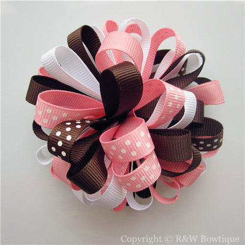 Glamour Giraffe Loopy Hair Bow