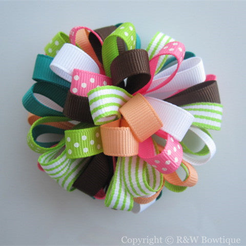 Growing Flowers Loopy Hair Bow
