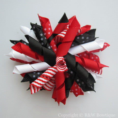Holiday Party Korker Hair Bow