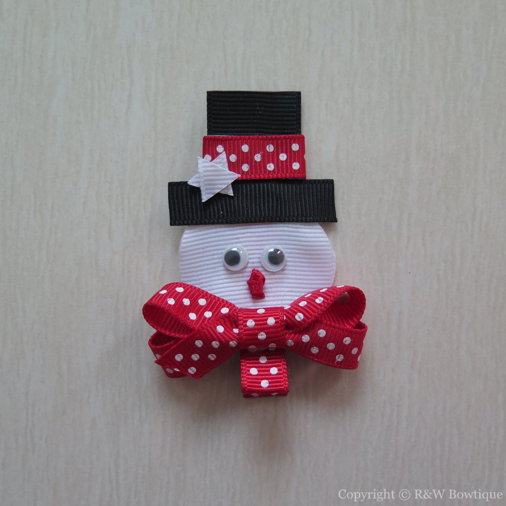 Snowman #C Sculptured Hair Clip