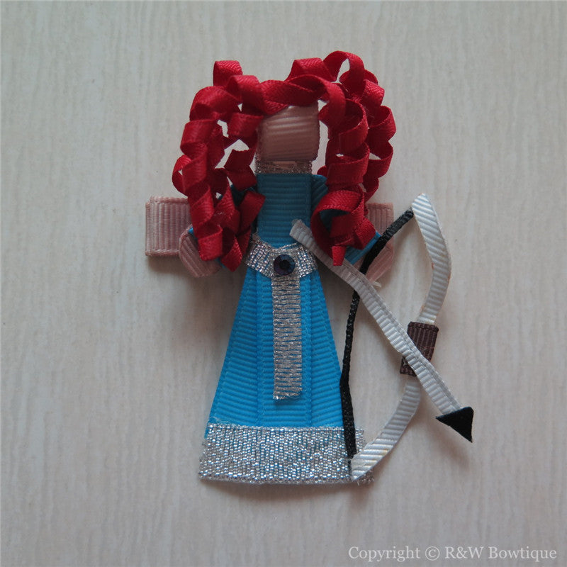 Brave Merida #A Sculptured Hair Clip