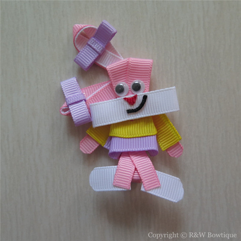 Easter Bunny #D Sculptured Hair Clip
