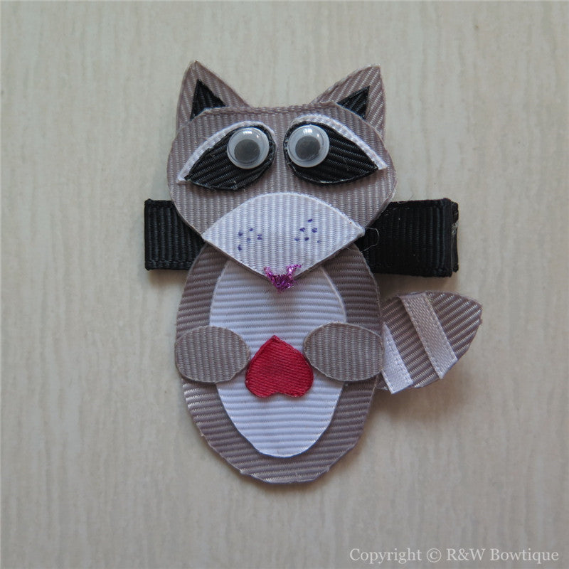 Raccoon Sculptured Hair Clip