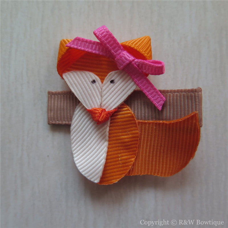 Fox Sculpture Hair Clip