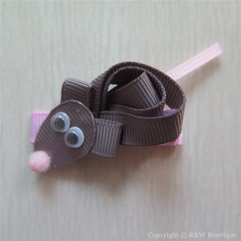 Mice Sculptured Hair Clip