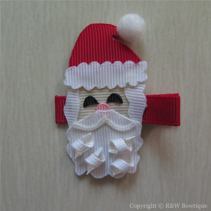 Santa Claus #B Sculptured Hair Clip