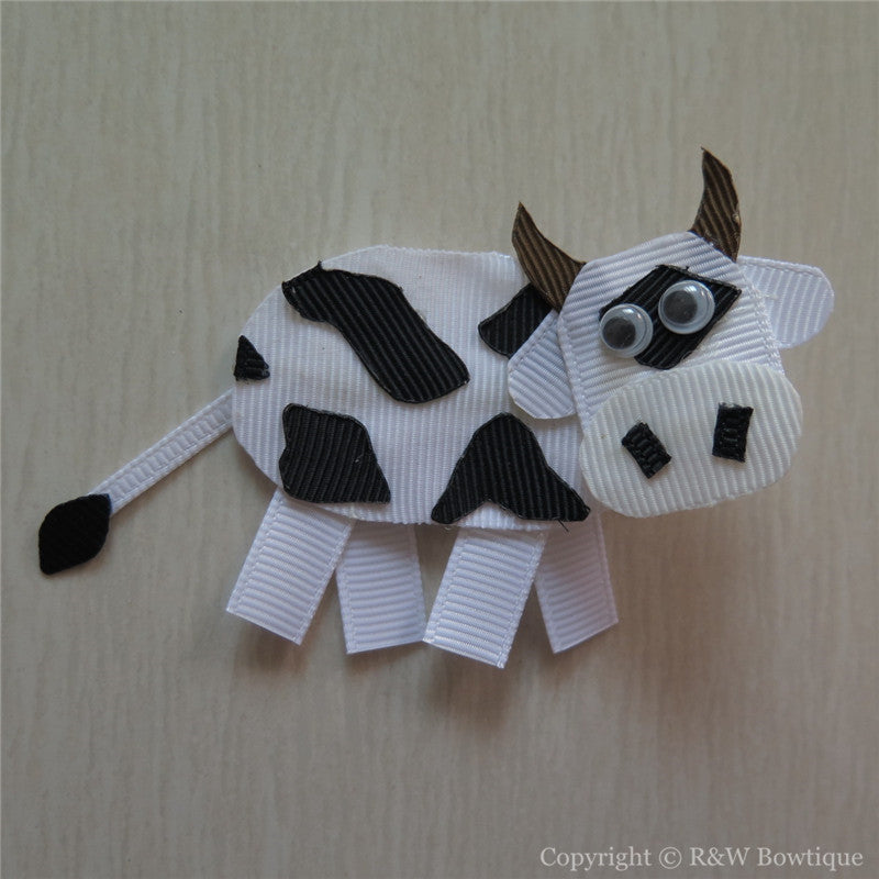 Milk Cow Sculptured Hair Clip