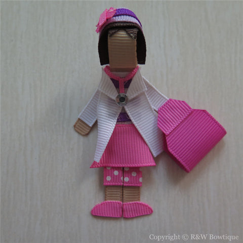 Doc McStuffins #A Sculptured Hair Clip