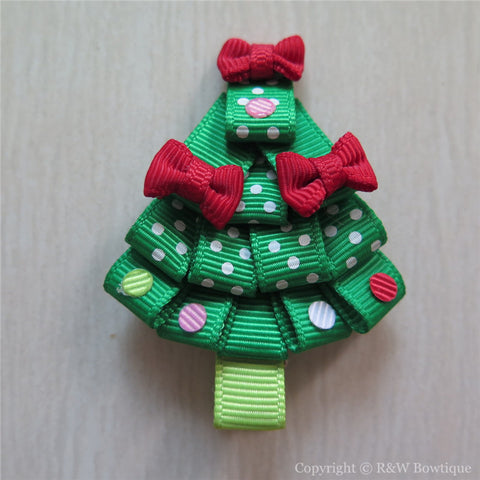 Christmas Tree #A-C Sculptured Hair Clip