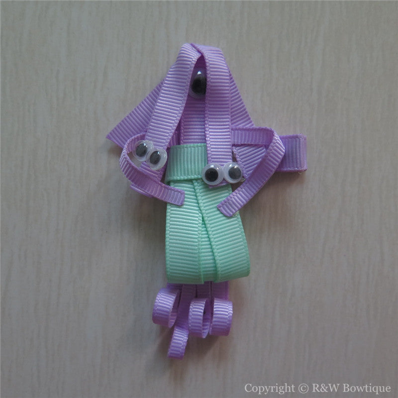 Monsters Sculptured Hair Clip