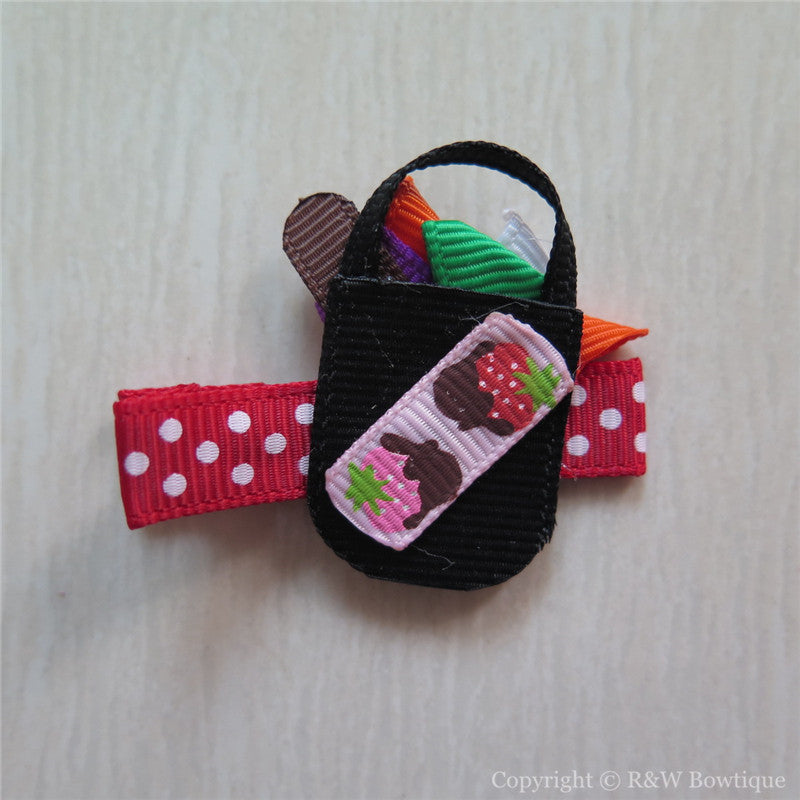 Candy Bag Sculptured Hair Clip