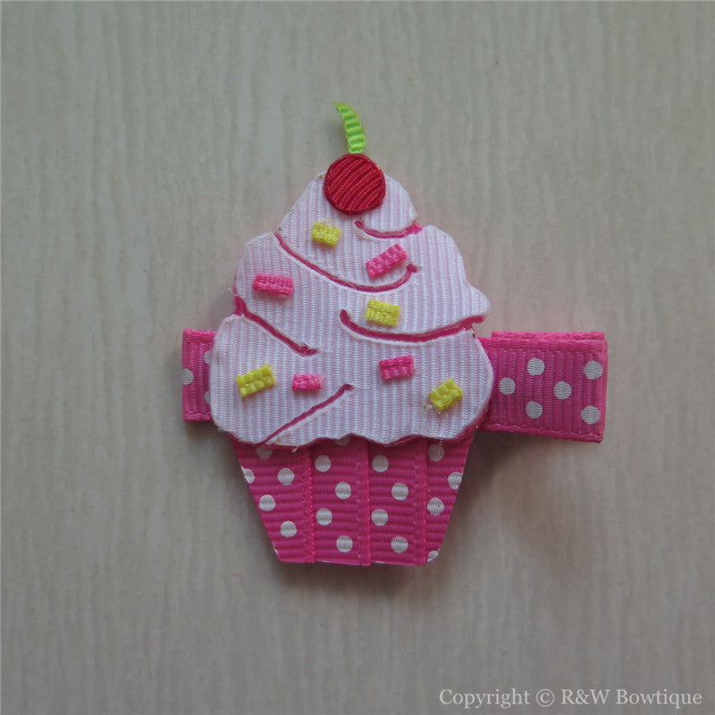 Cupcake #B Sculptured Hair Clip
