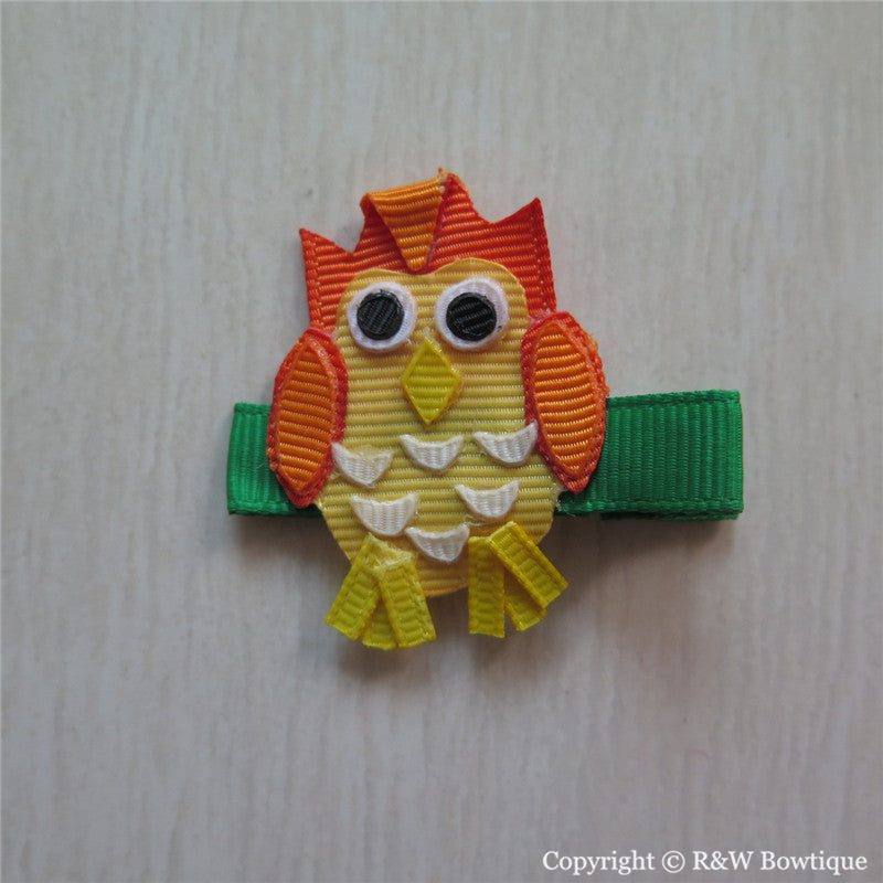 Owl #D Sculptured Hair Clip