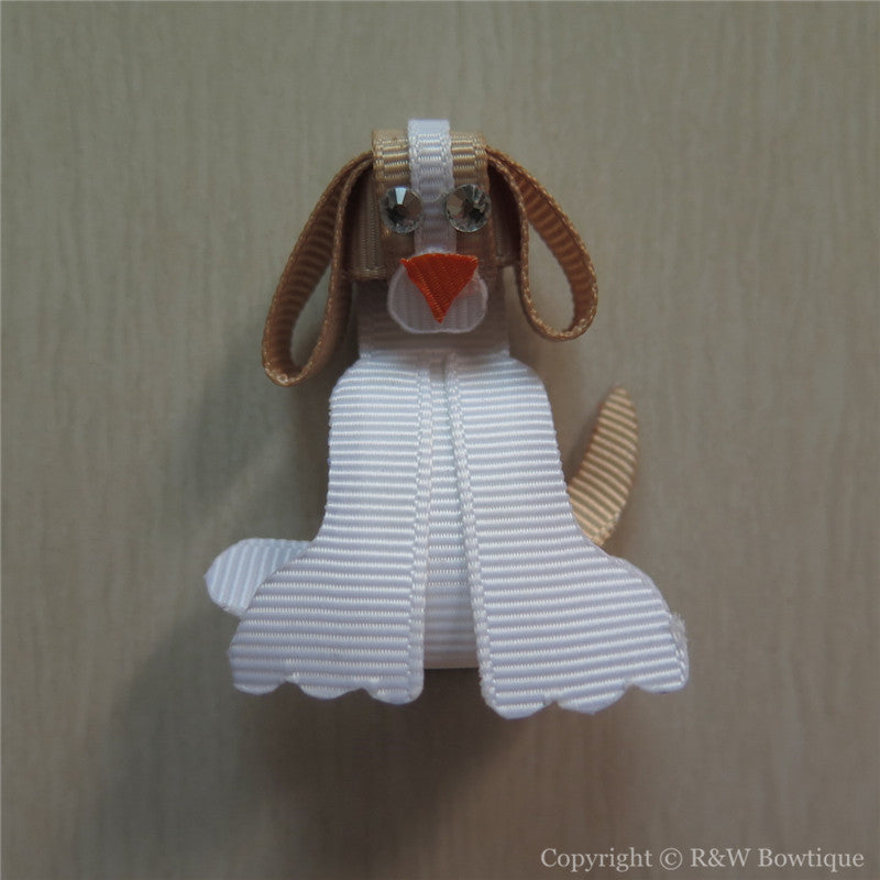 Perky Puppy Sculptured Hair Clip