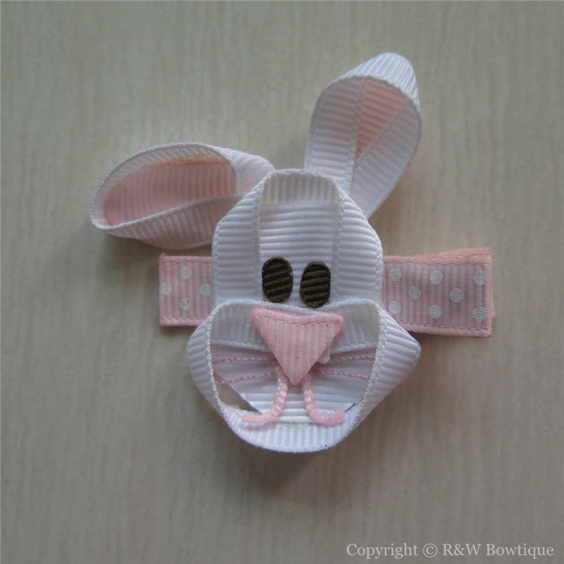 Easter Bunny #E Sculptured Hair Clip