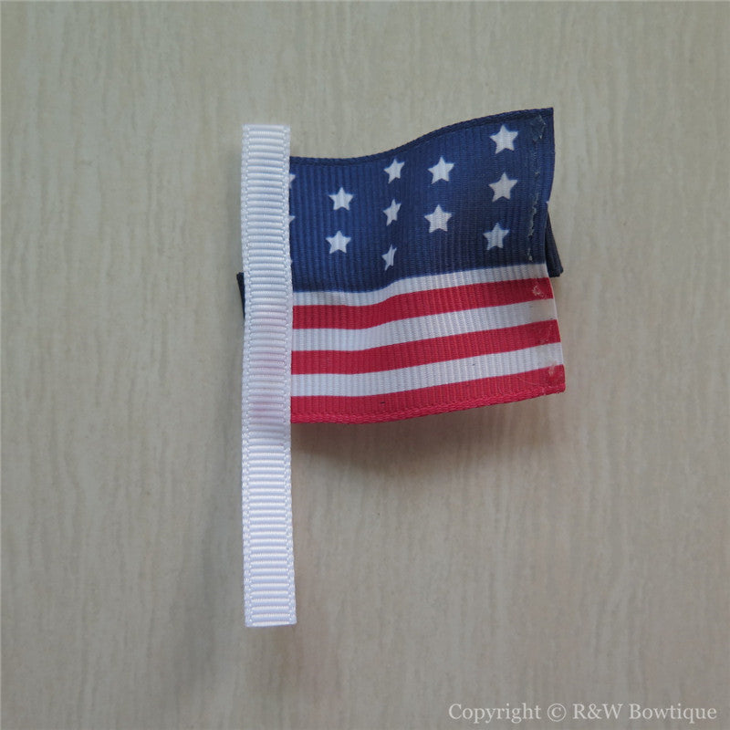 USA Flag Sculptured Hair Clip