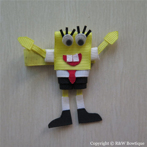 Sponge Bob Sculptured Hair Clip