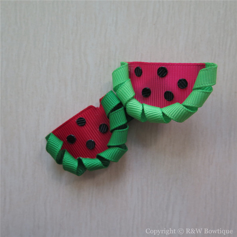 Watermelon #B Sculptured Hair Clip