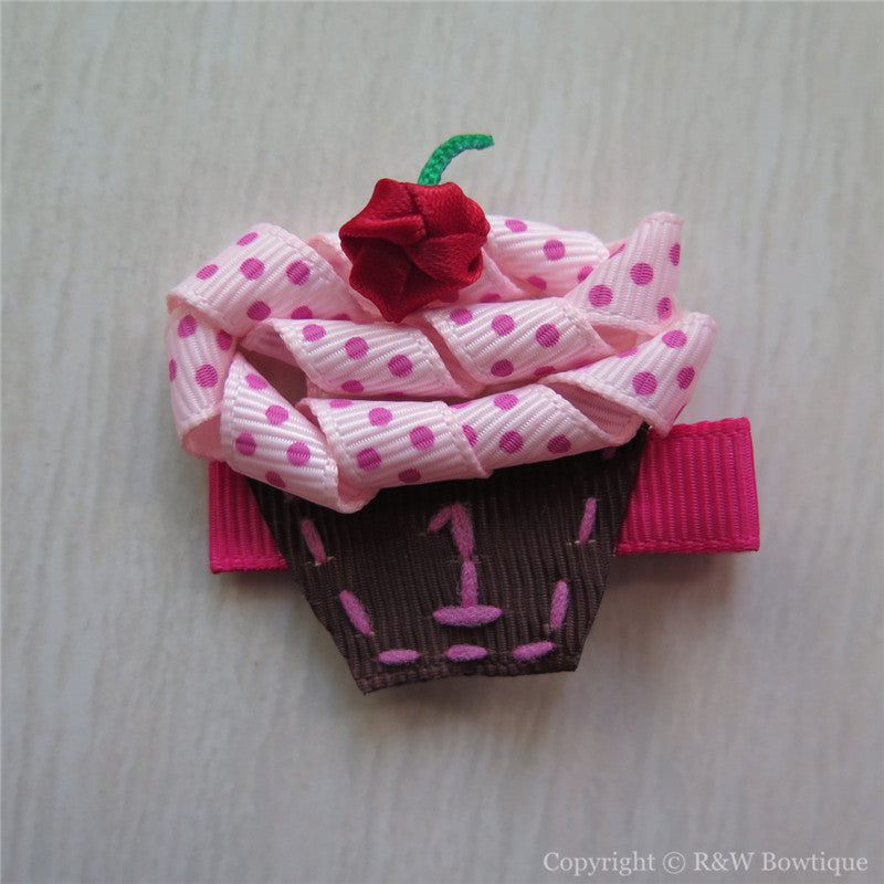 Cupcake #A Sculptured Hair Clip