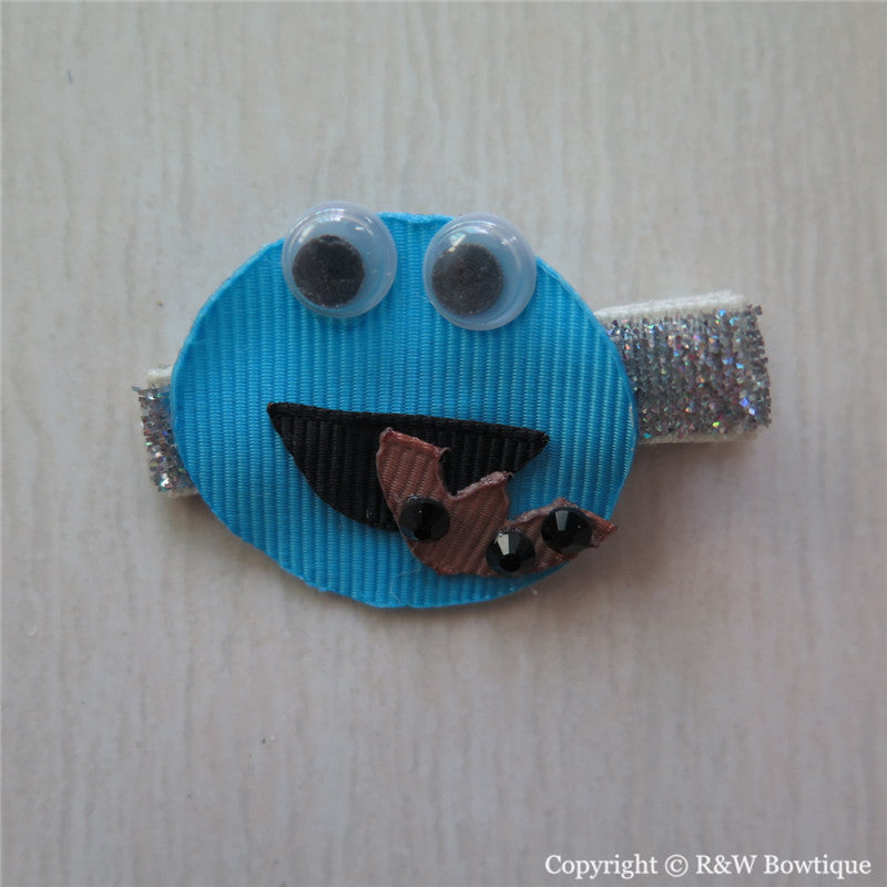 Cookie Monster Sculptured Hair Clip