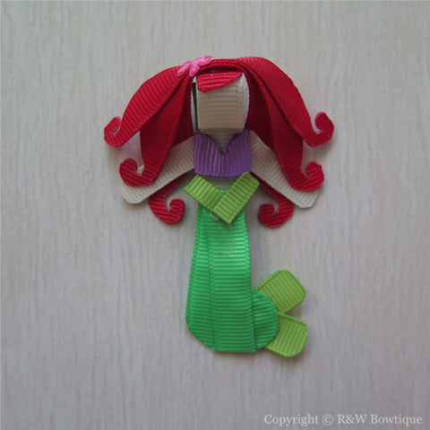 Princess Ariel #B Sculptured Hair Clip