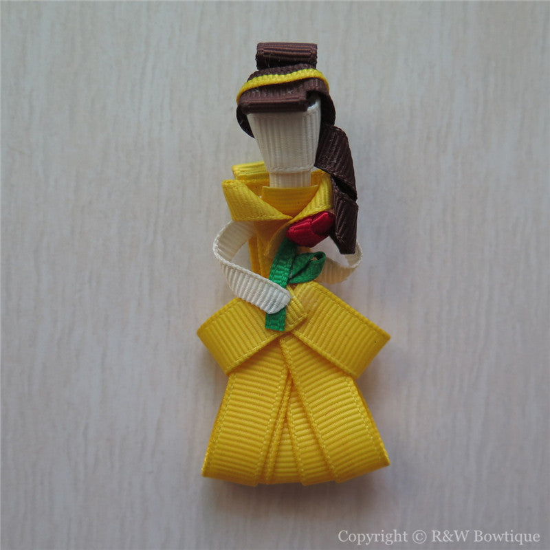 Princess Belle #B Sculptured Hair Clip