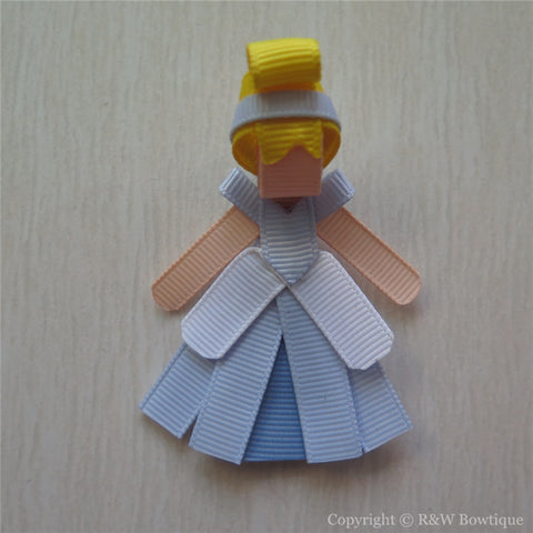 Princess Cinderella #B Sculptured Hair Clip