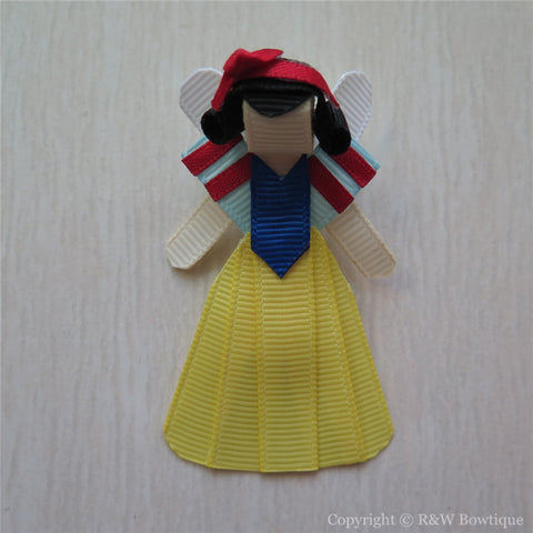 Princess Snow White #B Sculptured Hair Clip