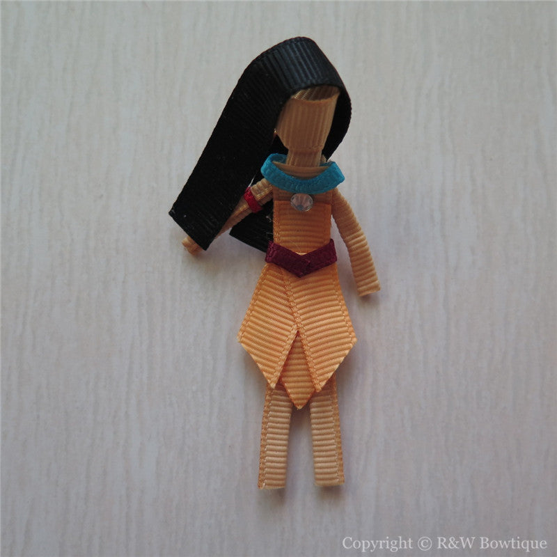Princess Pocahontas #B Sculptured Hair Clip