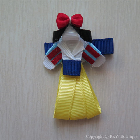 Princess Snow White #C Sculptured Hair Clip